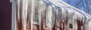 Ice Dams on Roof